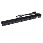 Dynamix 10 Outlet 16A Vertical Power Rail with 6kVA Circuit Breaker
