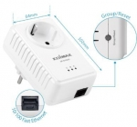 Edimax 500Mbps Nano PowerLine Adapter Kit (Includes 2X 1 Port PowerLine Adapters)