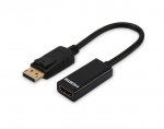 Ednet 0.15m DisplayPort (Male) to HDMI Type A (Male) Adapter Cable - Black