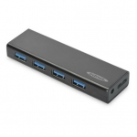 Ednet 4-Port USB 3.0 AC Powered USB Hub