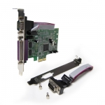 EMT PCI Express Combo Card Single Port Parallel & Dual Port Serial