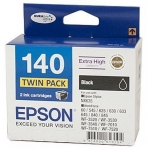 Epson DURABrite Ultra 140 Black Extra High Yield Ink Cartridge - Twin Pack