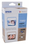 Epson T5852 PictureMate PicturePack Ink Cartridge - 4 Colour cartridge + 150 Sheets of Photo Paper