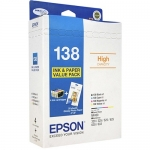Epson DURABrite Ultra 138 High Yield Ink Cartridge Photo Value Pack - Black, Cyan, Magenta, Yellow