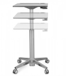 Ergotron LearnFit Sit-Stand Desk - White/Silver