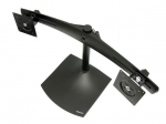 Ergotron DS100 Dual-Monitor Horizontal Desk Stand - Black