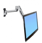 Ergotron Mounting Arm for Flat Panel Display 106.7cm (42) Screen Support 11.34kg Polished Aluminum
