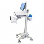 Ergotron StyleView Moveable Medical Cart with LCD Pivot