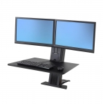 Ergotron WorkFit-SR Dual Monitor Sit-Stand Desktop Workstation - Black
