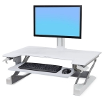 Ergotron WorkFit-TL Sit-Stand Desktop Workstation - White