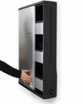 Ergotron Zip12 Charging Wall Cabinet for 12 Devices - Black, Silver