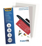 Fellowes A4 175 Micron Gloss Laminating Pouches - 100 Pack