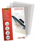 Fellowes 67x99mm 125 Micron Gloss Laminating Pouches - 50 Pack