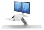 Fellowes Lotus RT Dual Monitor Sit Stand Workstation - White