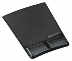 Fellowes Gel Wrist Support Mouse Pad - Black
