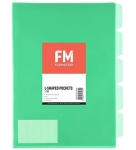 File Master A4 5 Tab Presentation Folder Green - 5 Pack