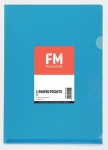 File Master A4 L-Shape Pocket Presentation Folder Blue - 12 Pack