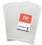 File Master A4 L-Shape Pocket Presentation Folder Clear - 12 Pack