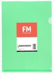 File Master A4 L-Shape Pocket Presentation Folder Green - 12 Pack