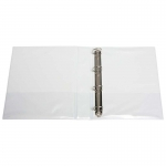 File Master A4 PVC Insert Cover 4/38 Ring Binder - White