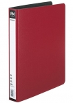 File Master A4 Trunkboard 2/26 Ring Binder Red