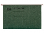 File Master Crystalfile Foolscap Green Suspension Files - 10 Pack