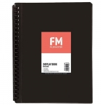 File Master 20 Pocket Refillable A4 Display Book with Insert Cover - Black