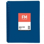File Master 20 Pocket Refillable A4 Display Book with Insert Cover - Blue