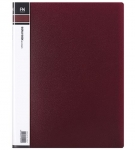 File Master 40 Pocket A4 Display Book - Burgundy