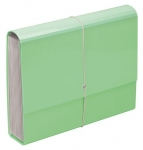 File Master Pastel 13 Pocket Expanding File - Green