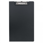 File Master PVC Foolscap Clipboard with Flap - Black