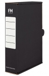 File Master Foolscap Storage Box Carton Black