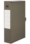 File Master Foolscap Storage Box Carton Grey