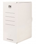 File Master Jumbo Storage 381x250x169 Box Carton White