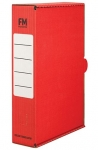 File Master Foolscap Storage Box Carton Red