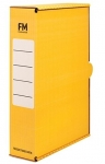 File Master Foolscap Storage Box Carton Yellow