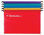 File Master Crystalfile Plus PolyProp Foolscap Assorted Colours Suspension File - 10 Pack