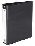 File Master A4 PVC Insert Cover 2/26 Ring Binder Black