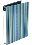 File Master A4 Vivid Stripe 2D Ring Binder Ice Blue