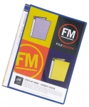 File Master 40 Pocket A4 Display Book with Insert Cover - Blue