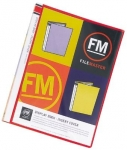 File Master 40 Pocket A4 Display Book with Insert Cover - Red