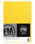 File Master Manila Folders Foolscap Yellow 50 Pack