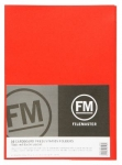 File Master Double Pocket Presentation Folder 10 Pack Red