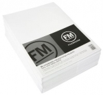 File Master Double Pocket Presentation Folder 50 Pack White