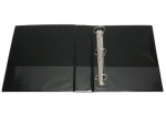 File Master A4 PVC Insert Cover 3/26 Ring Binder Black