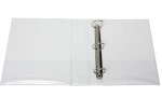 File Master A4 PVC Insert Cover 3/26 Ring Binder White