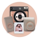 Fujifilm Instax Square SQ6 Hybrid Instant Camera - Blush Gold Deluxe Pack + Hell Pizza Voucher by Redemption!