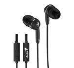 Genius HS-M320 In Ear 3.5mm Wired Earphones with Microphone - Black