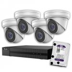 HiLook IK-4245TH-MMP 5MP 4-Channel Surveillance Camera Kit with 2TB HDD