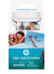 HP Sprocket ZINK Glossy Sticky-Backed 2x3 290gsm Photo Paper - 20 Sheets